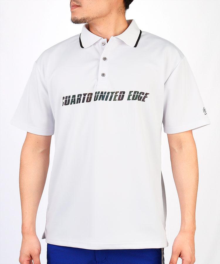 CU グラフィックbackプリント◆半袖ポロシャツ