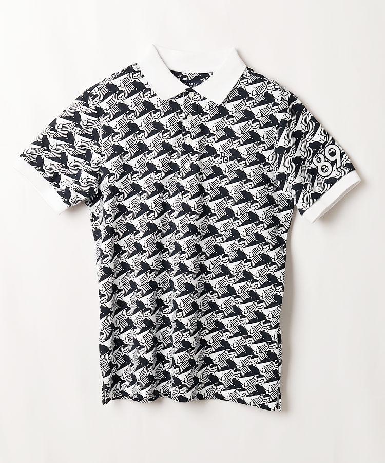 PG 吸収拡散◆くじら柄半袖ポロシャツ