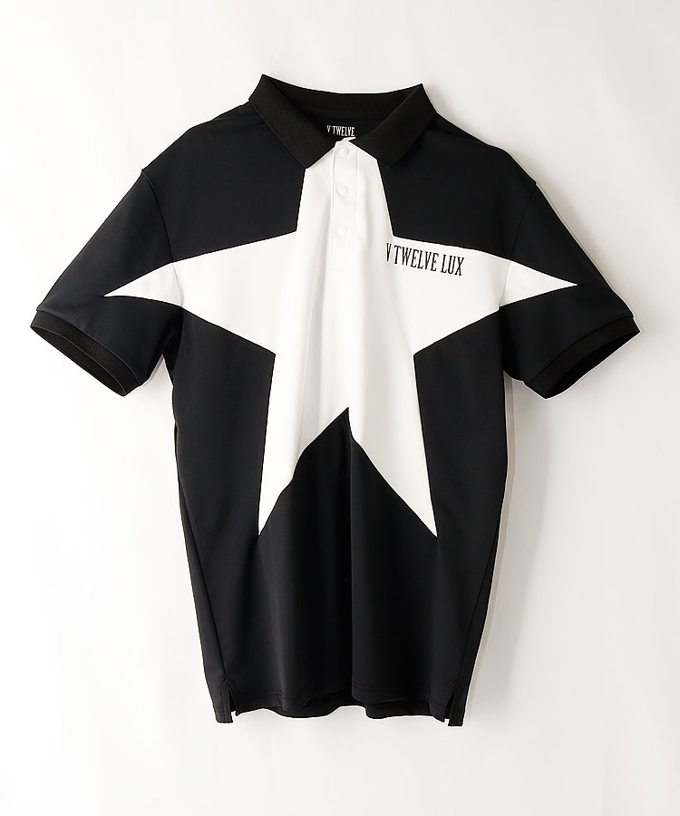 VI ビッグスター◆モノトーン半袖ポロシャツ