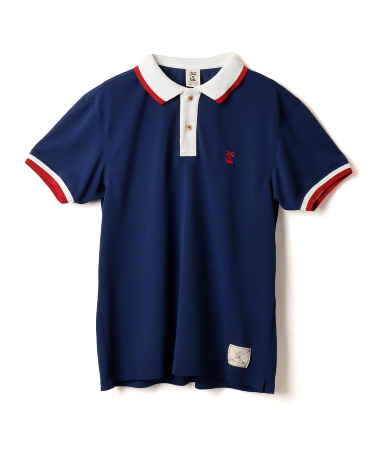 PA 吸汗速乾◆配色半袖UVポロシャツ