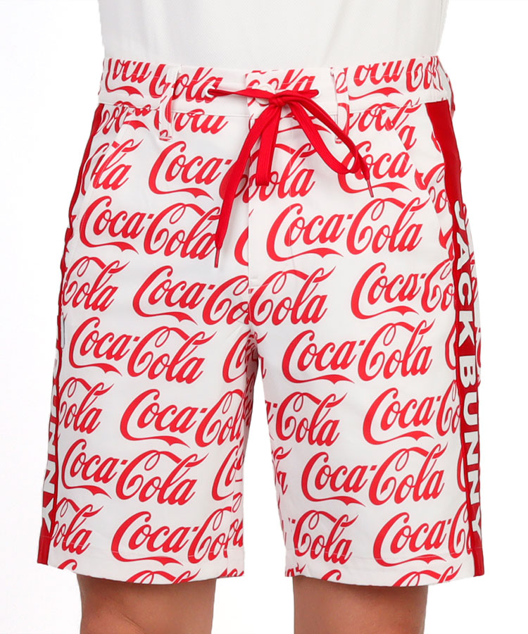 JB CocaColaロゴ総柄◆ハーフパンツ
