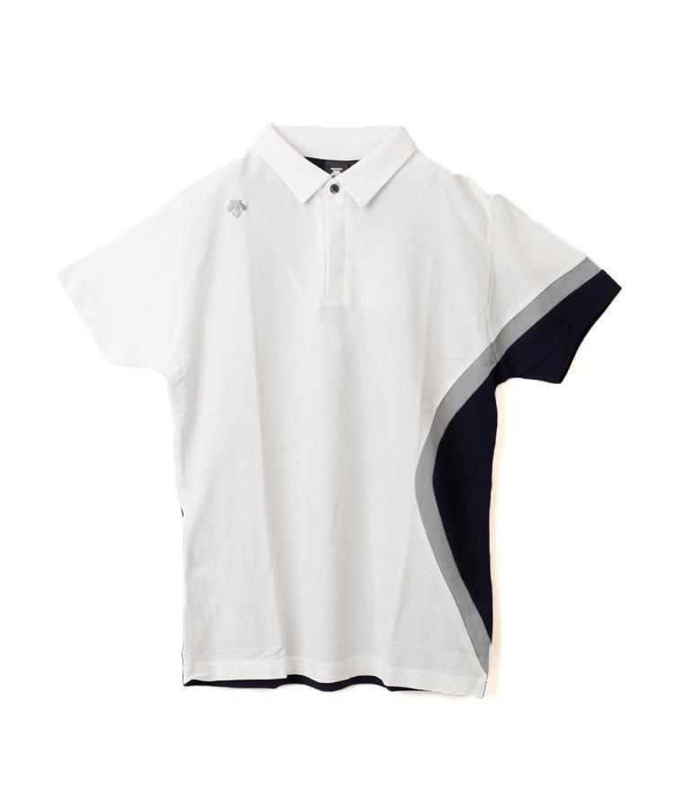 DE 配色切り替え◆半袖ポロシャツ