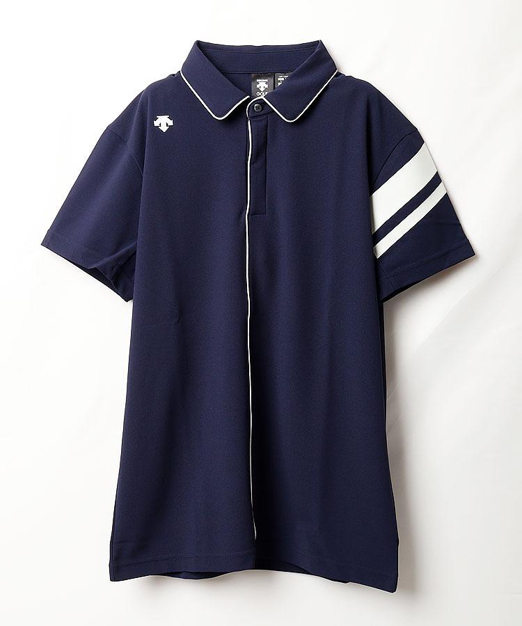 DE 涼しさ続く◆パイピング切替半袖シャツ