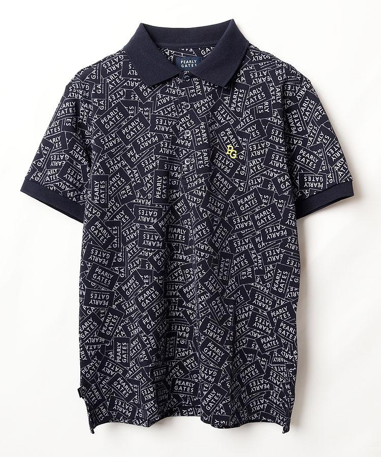 PG 高機能◆ステッカー柄半袖ポロシャツ