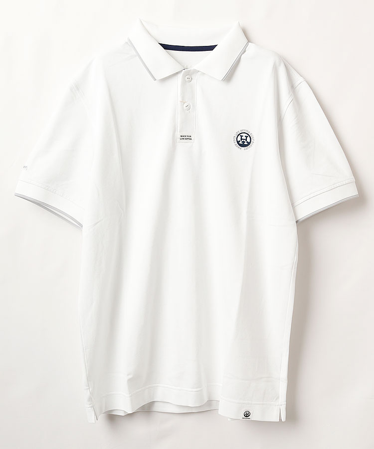 HO リブLINE◆Basic半袖ポロシャツ