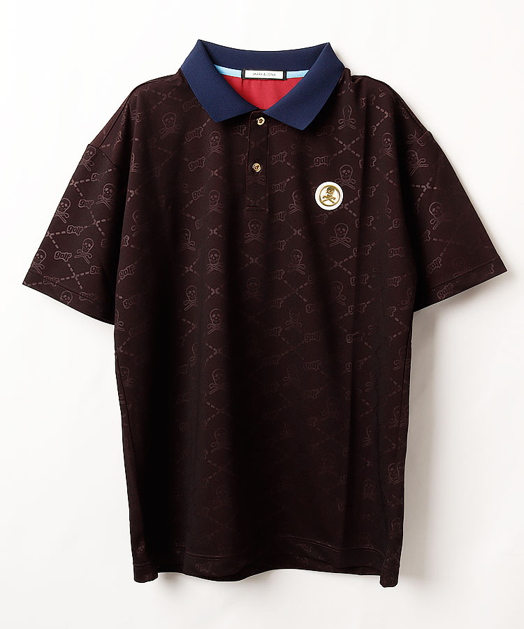 ML スカルPrint◆半袖ポロシャツ