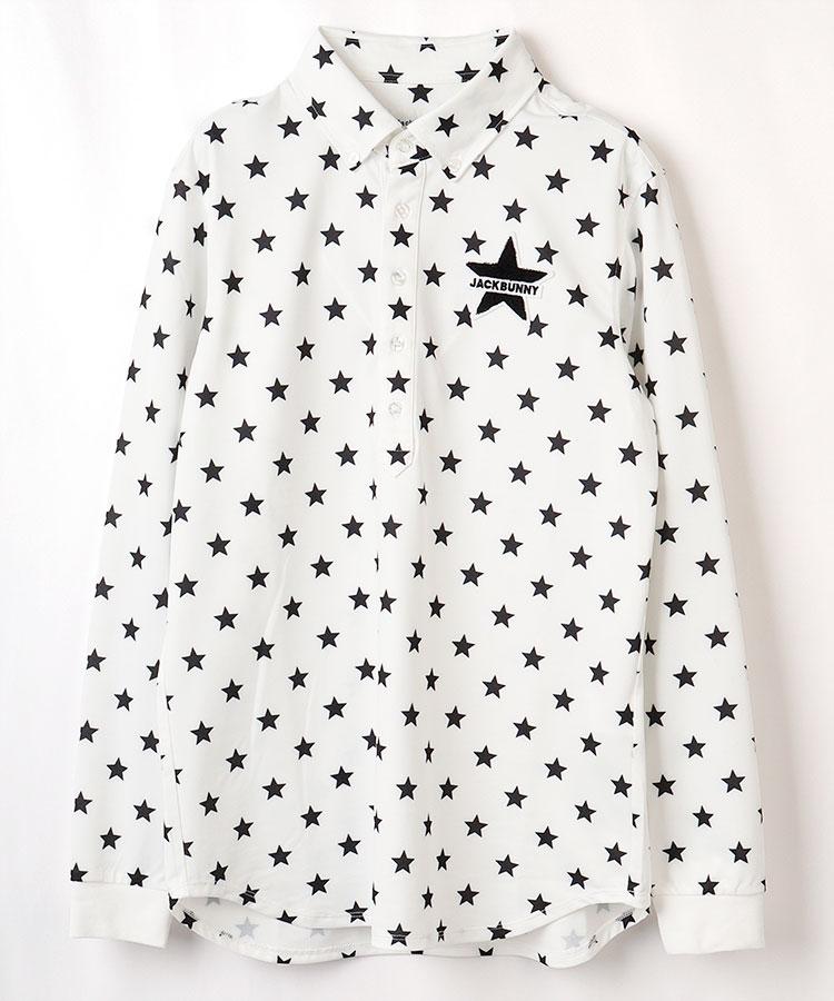 JB [CP対象]スター柄◆長袖ポロシャツ