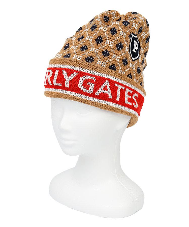 PG アーガイル柄◆ロゴLINEニット帽