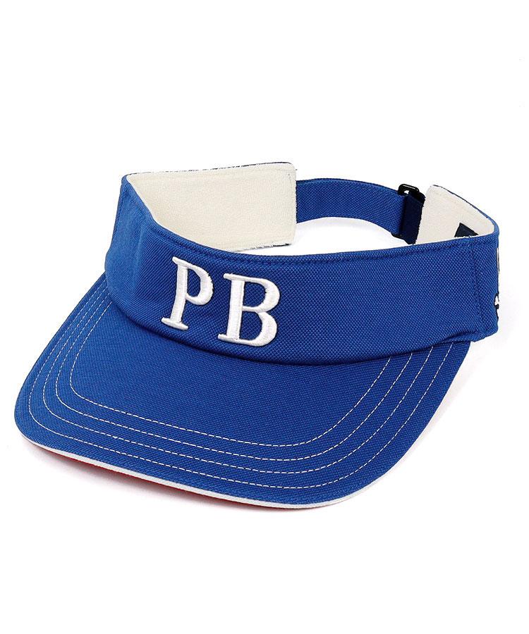PS 「PB」ロゴ刺繍★裏つば配色バイザー