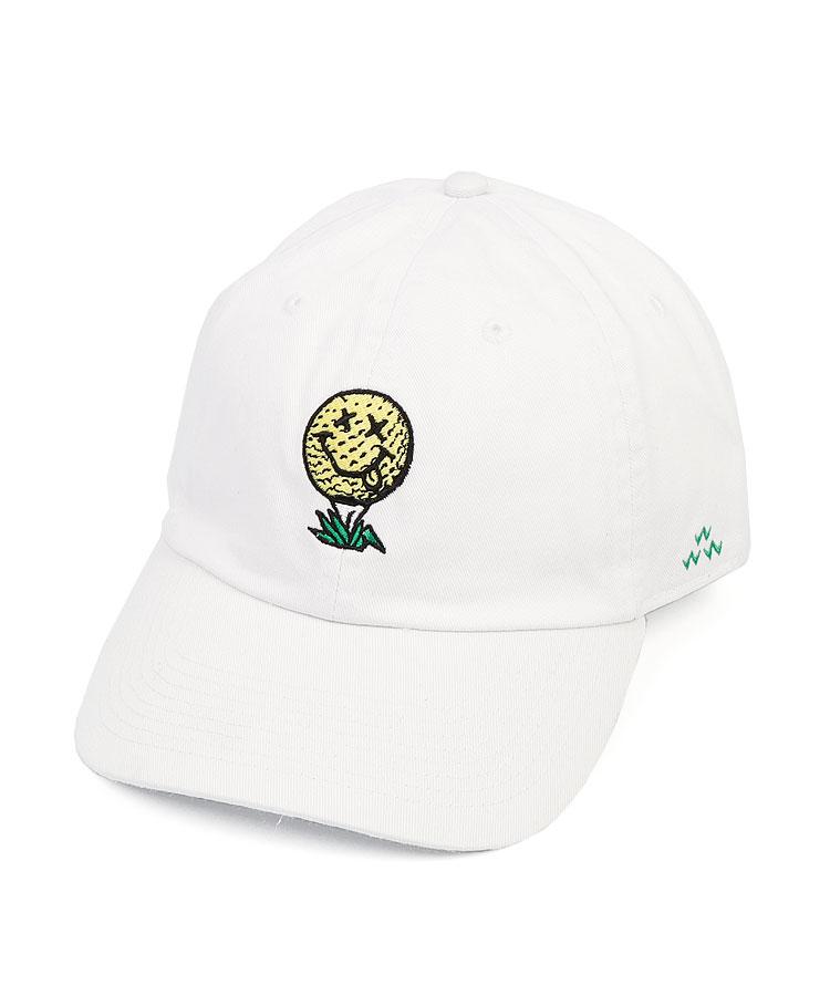BC SMILEボール刺繍コットンキャップ