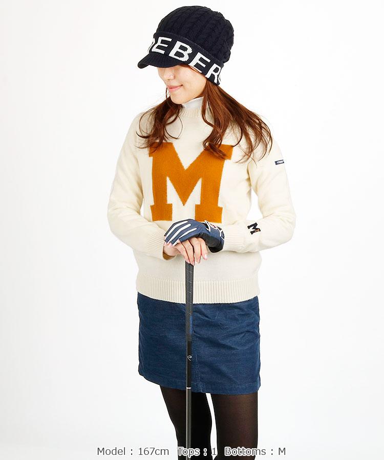 MB BIG「M」ジャガード◆WOOL混ニット