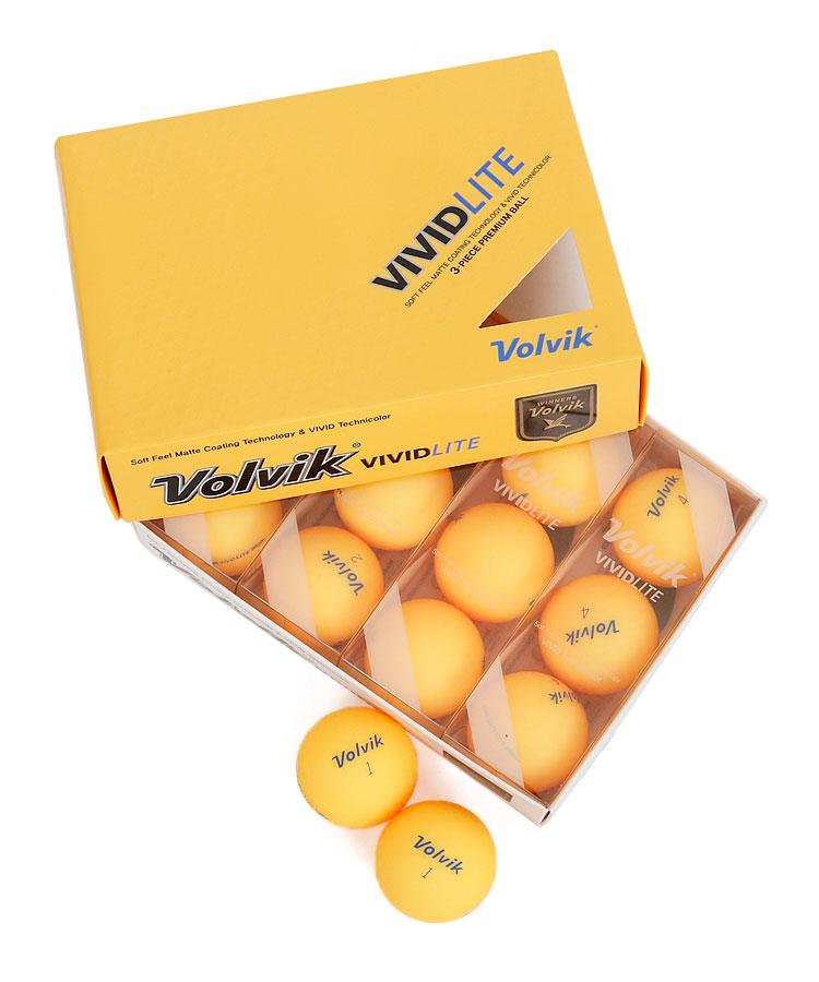 VO Volvik◆VividLiteボールセット(オレンジ)