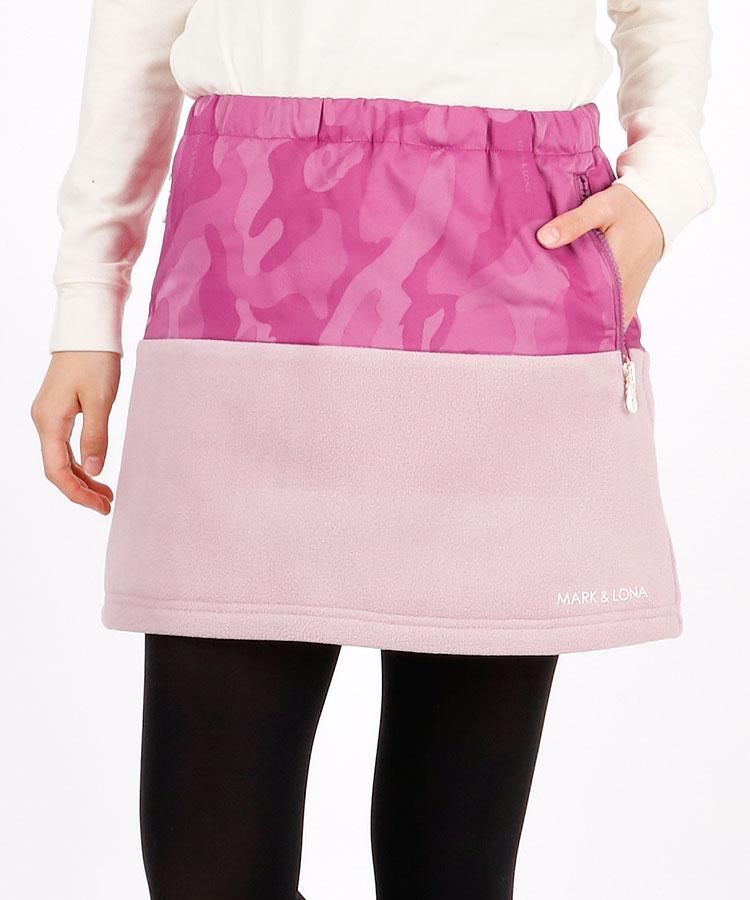 ML 異素材◆カモフラSKULL×ボア中綿スカート