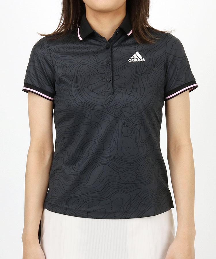 AG Golfマップ柄★半袖ポロ