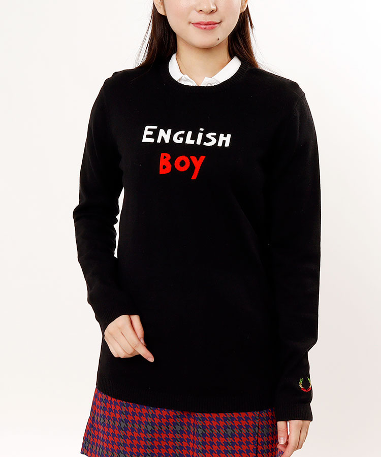 FP 「EnglishBoy」インターシャ♪Uネックニット