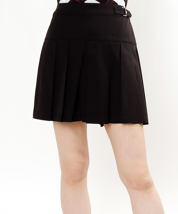 SA 【Black】切替BOXプリーツスカート
