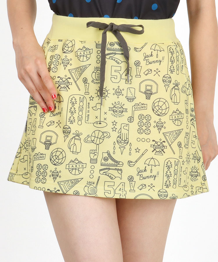 JB GOLFモチーフ総柄★スウェットスカート