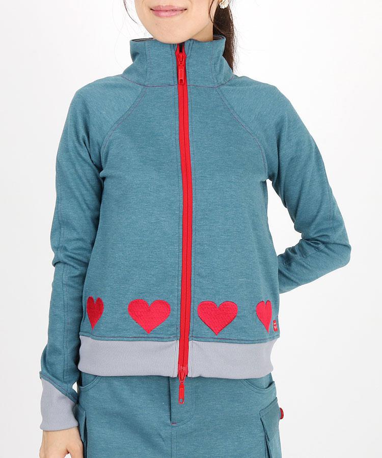 AI 裾HEART刺繍♪スウェットブルゾン
