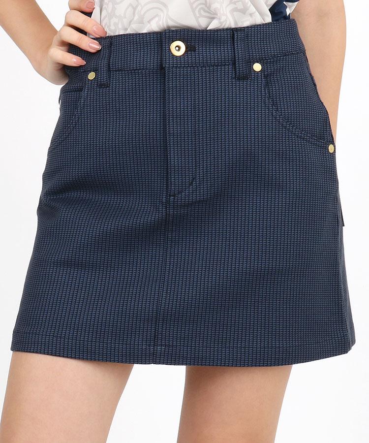 SA Micro変形千鳥◆総柄スカート