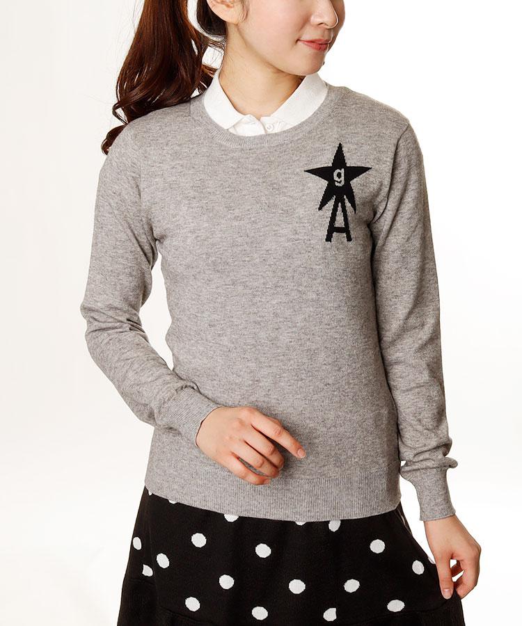 AI STAR×Aロゴ★長袖ライトニット