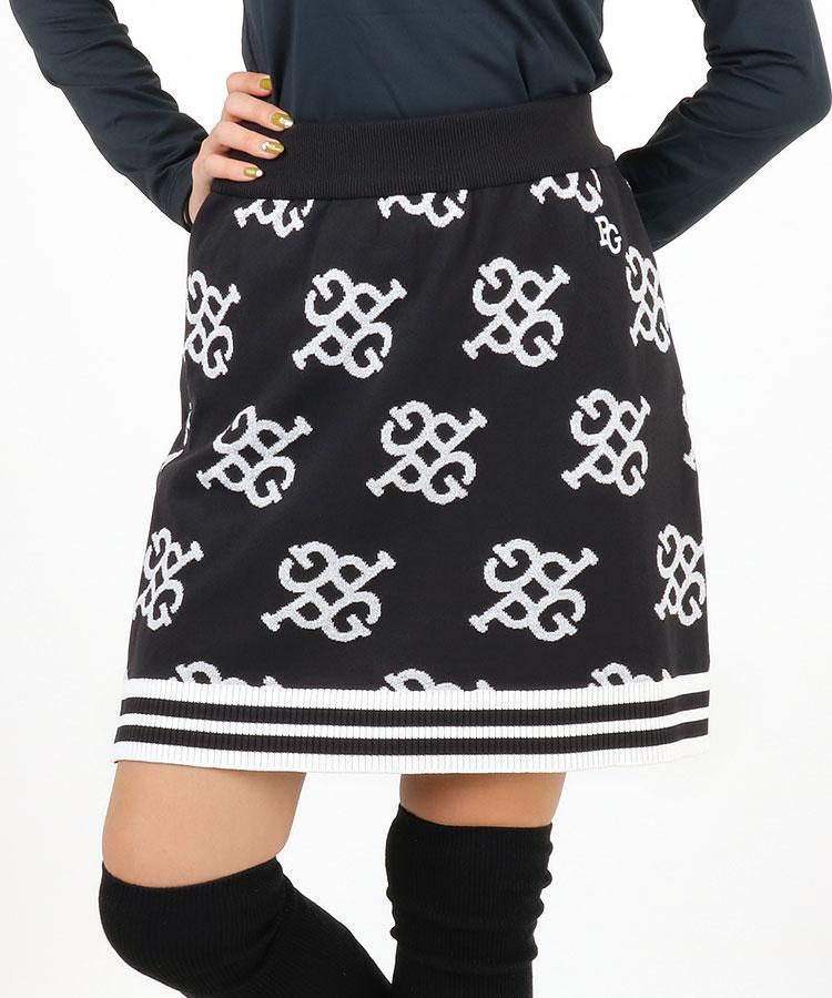 PG PGモノグラム裾ライン入◆ニットスカート