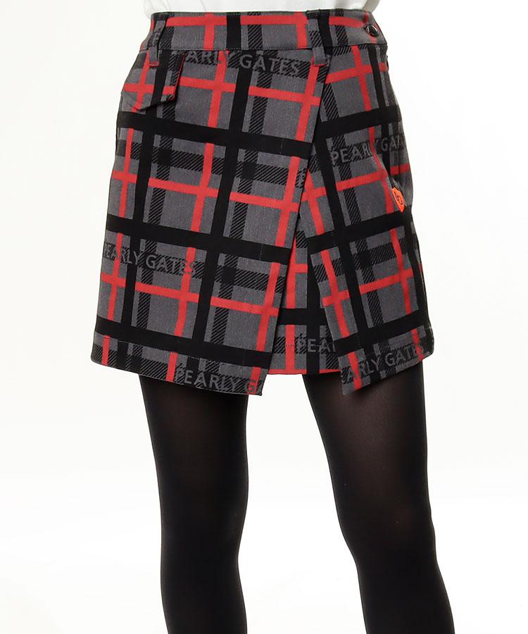 PG ロゴMIXチェック柄★ラップ風スカート