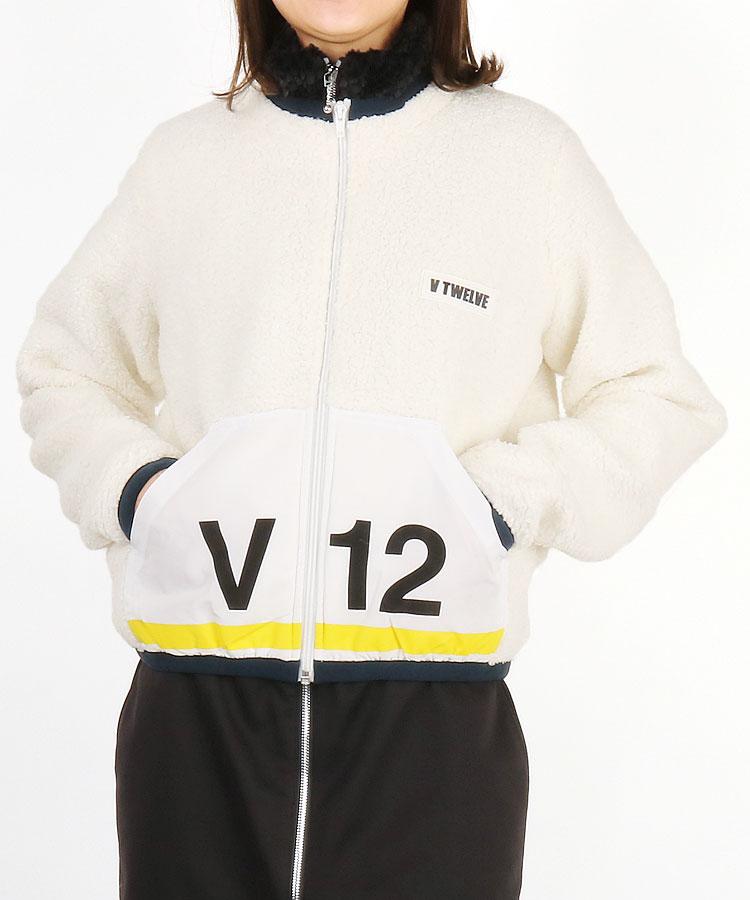 VI V12プリントFrontポケ◆ボアジャケット