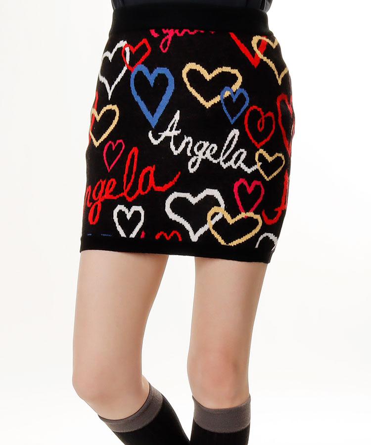 TT Angelaハート柄ニットスカート