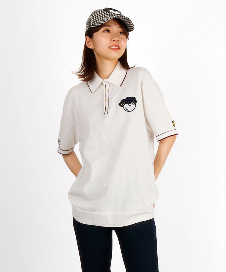 LC 【マルボンゴルフコラボ】ワッペン付ニットポロシャツ