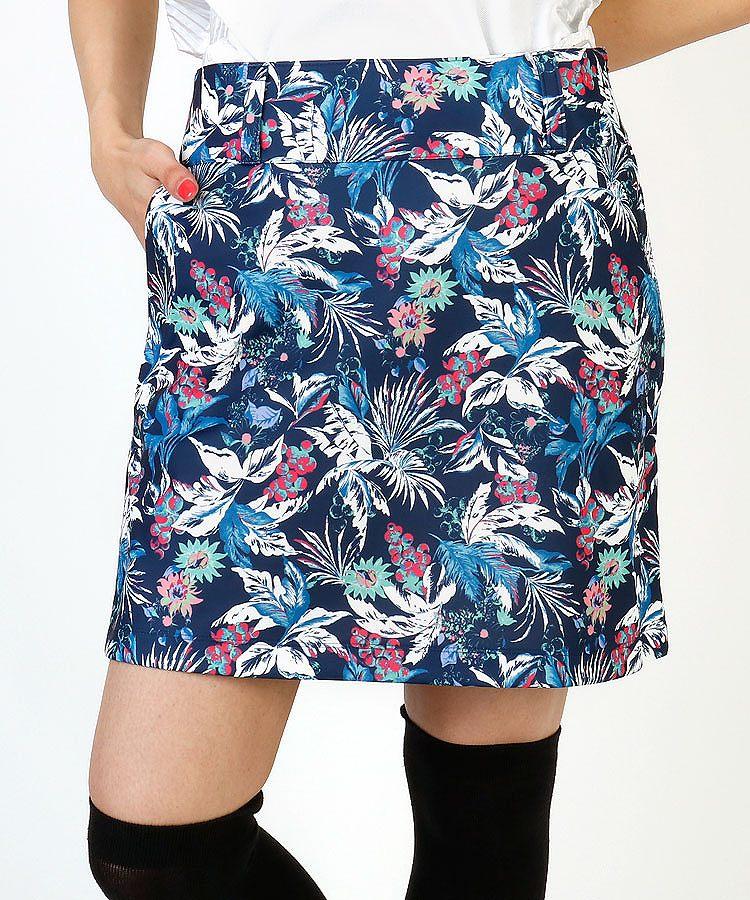 SD グラフィックFlower総柄♪ペチ付さらりスカート
