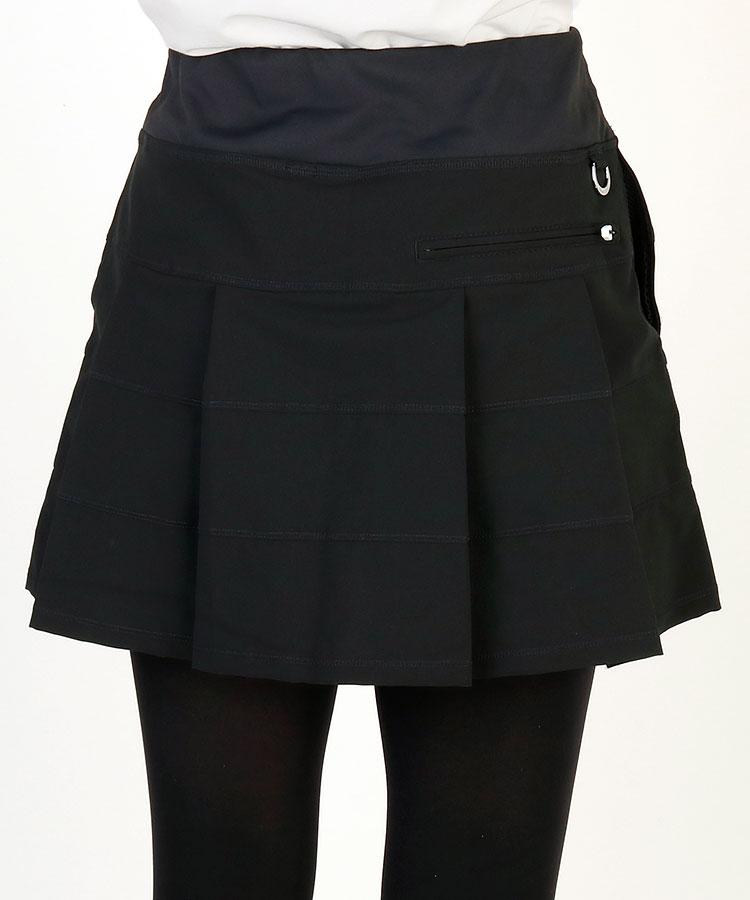 JR ステッチBorder◆Backプリーツ一体ペチスカート