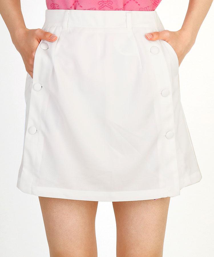 RI Wボタン◆Flowerプリーツスカート