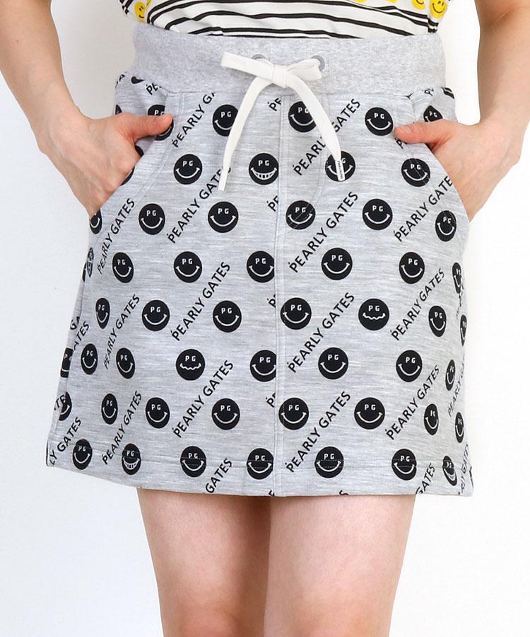 PG ニコちゃんプリント柄◆ダンボールニットスカート