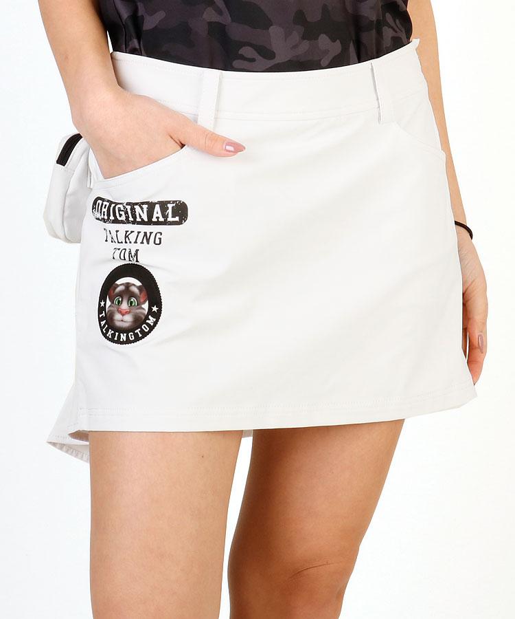 TT Miniポーチ付♪BackプリントFishテール一体ペチスカート