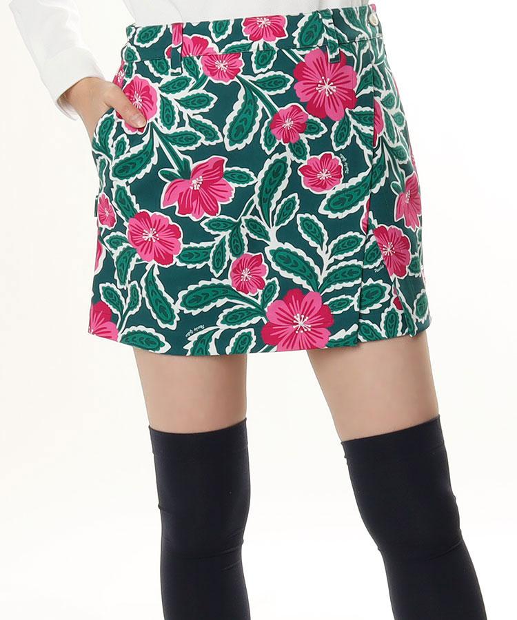 PG Flower×ペイズリー♪ラップ風ポンチスカート