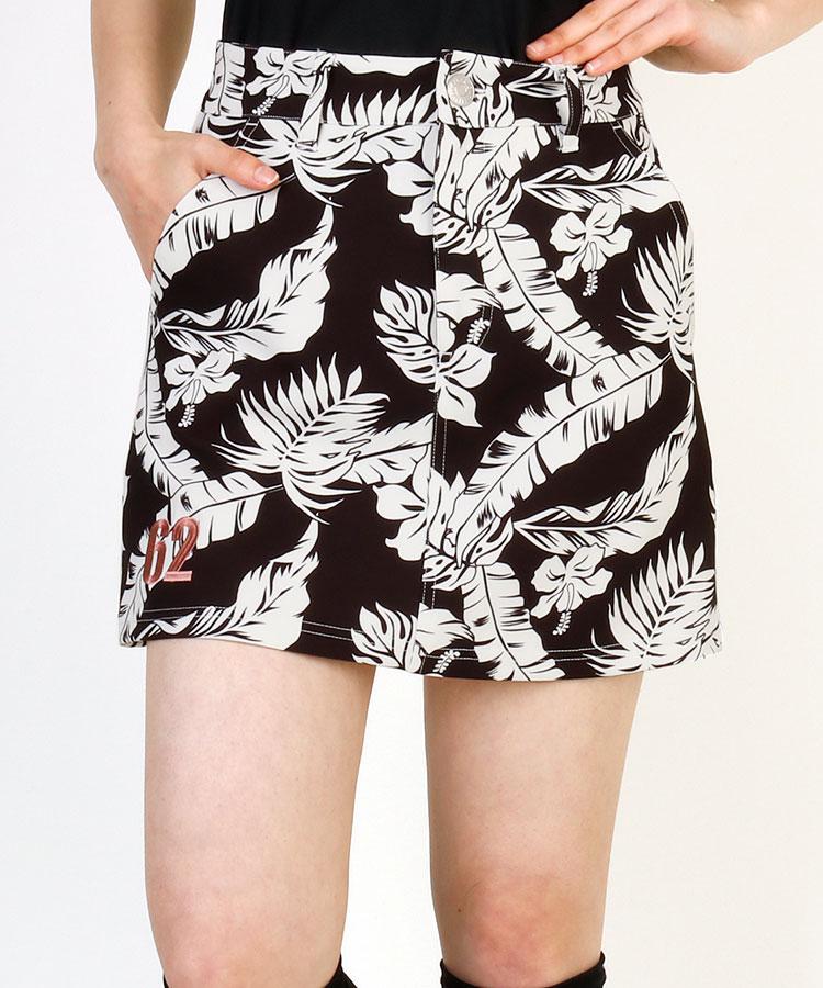 CU ALOHAボタニカル総柄スカート