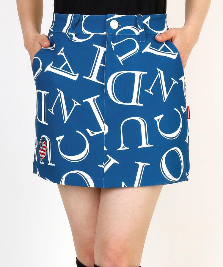 CU ロゴアルファベット総柄◆スカート