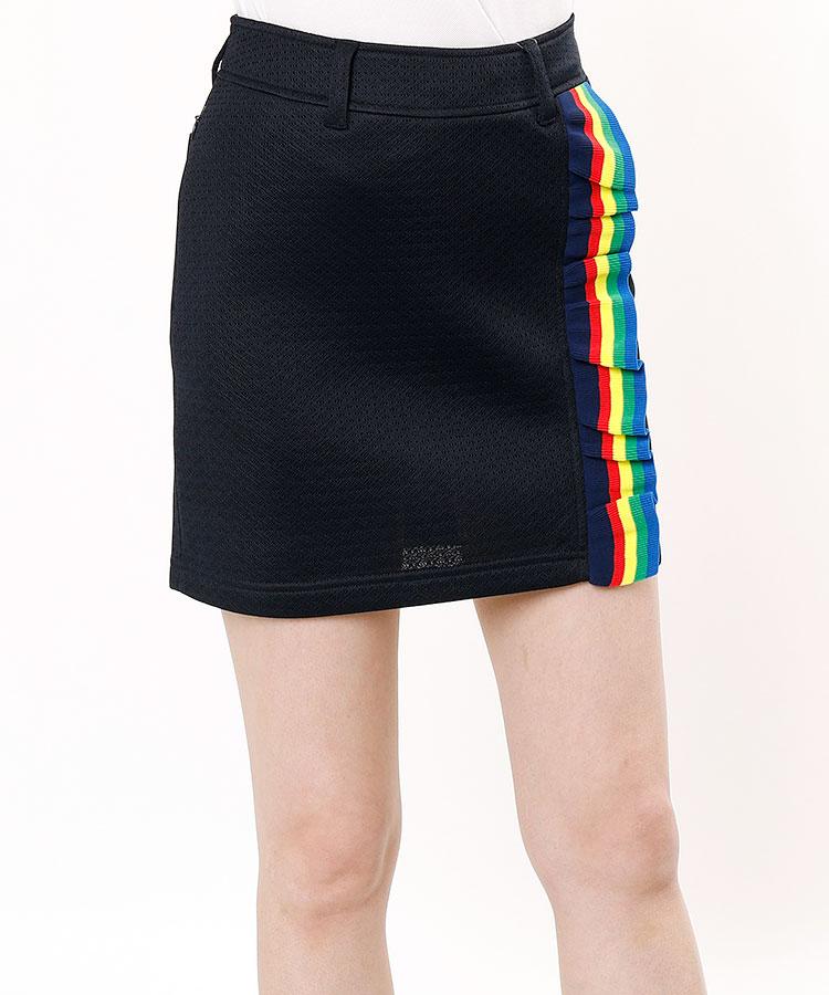 ML Rainbowフリルライン♪メッシュ風スカート