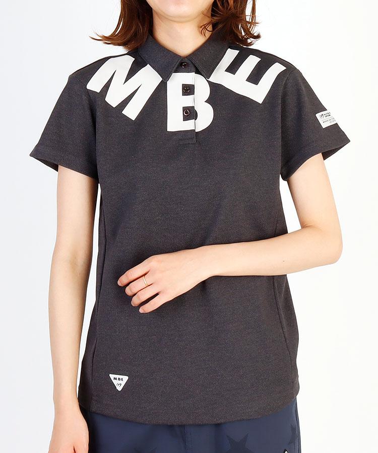 MB ビッグMBEプリント◆カノコ半袖ポロ