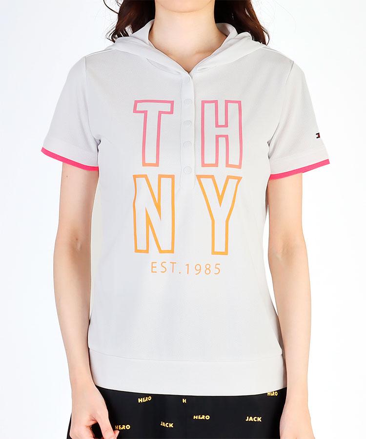 TH 「THNY」Neonロゴ★フーディー半袖カットソー