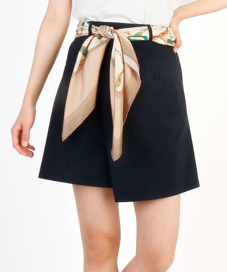 RI スカーフ付き★ラップスカート