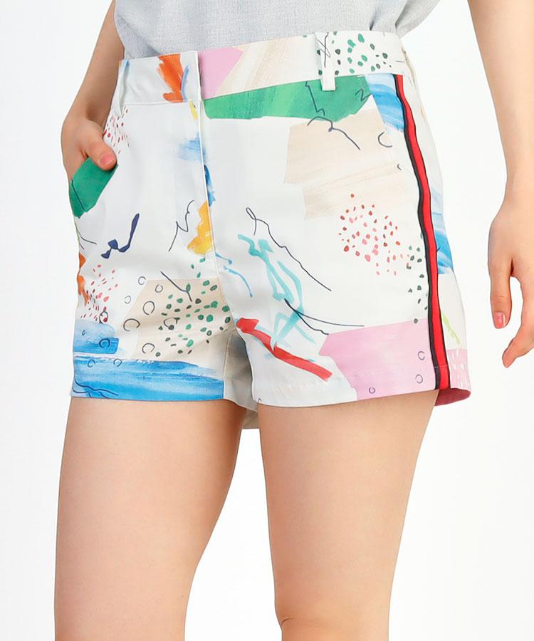AR 水彩画Print★サイドLINEショーパン