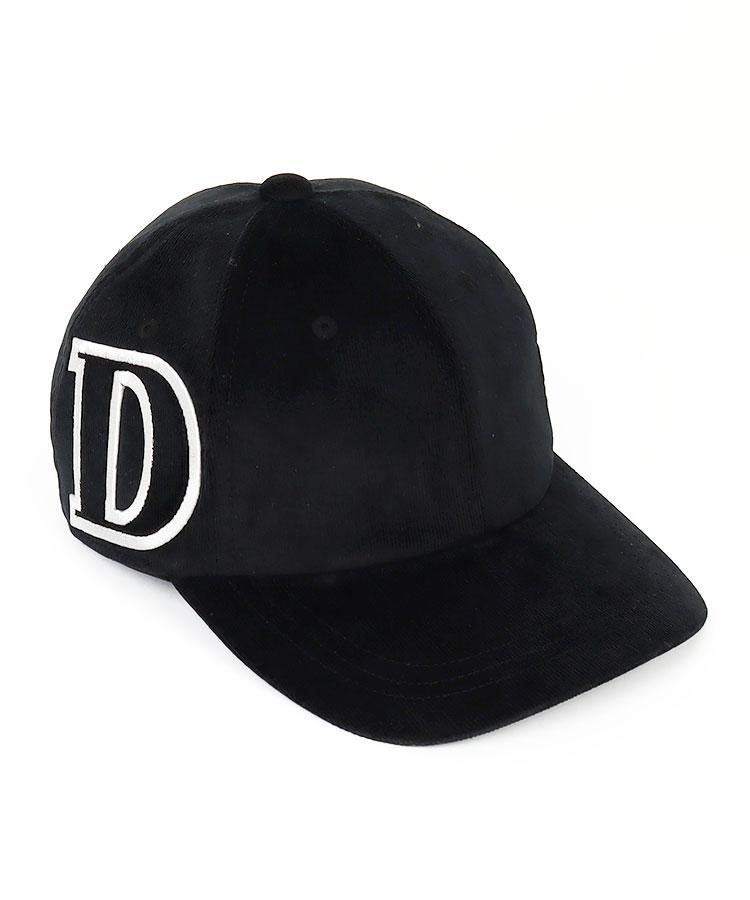 DM 「D」ロゴ◆コーデュロイキャップ