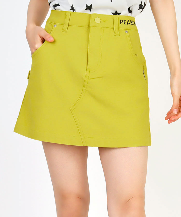 PG ウエストSIDEロゴ◆Aラインスカート