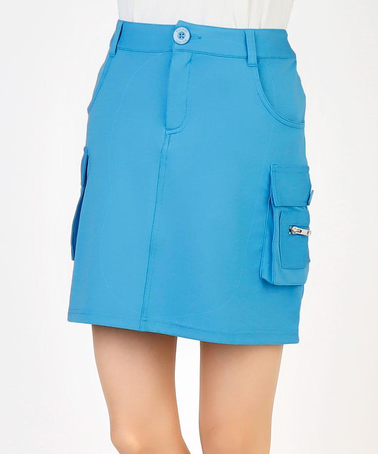 DL 高機能ペチパンツ付き◆ストレッチカーゴスカート