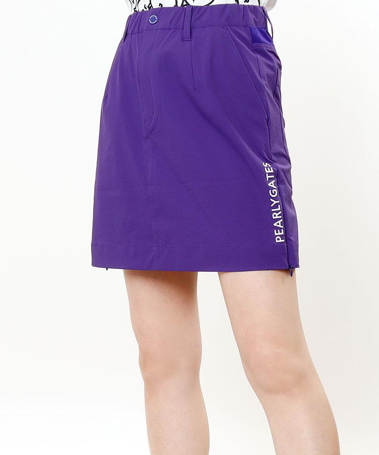 PG アシメ裾ロゴ◆SIDEジップ付きスカート