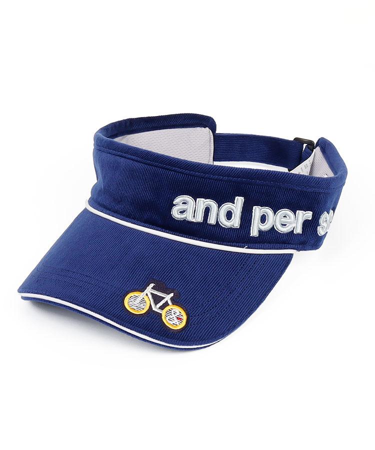 AP Bicycle刺繍◆コーデュロイバイザー
