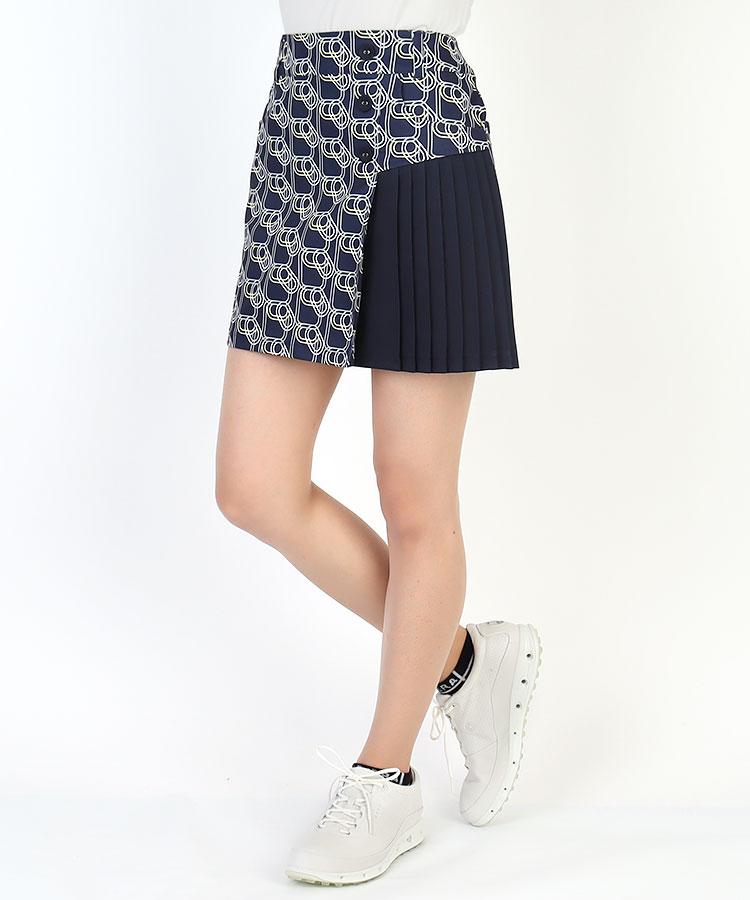 CA 幾何学◆Stretchアシメプリーツスカート
