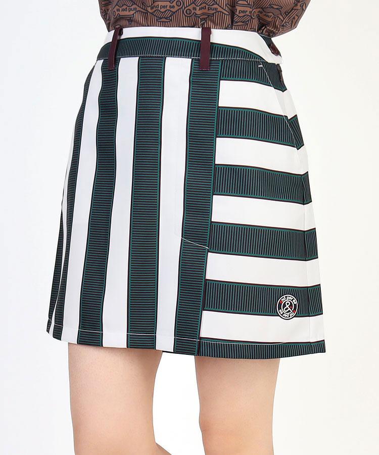 AP 切替Stripe◆ラップ風スカート