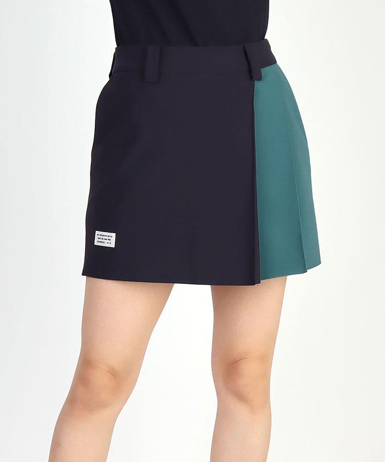 DM 配色★sideプリーツスカート